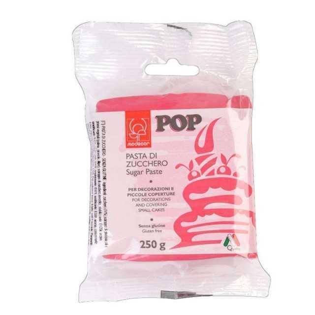 Pâte a sucre Rose fushia MODECOR 250g