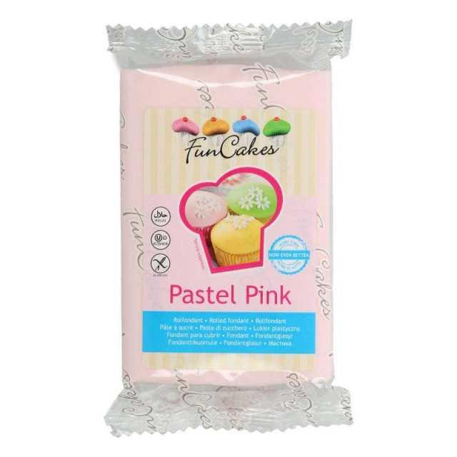 Pâte à sucre Rose pastel FUNCAKES 250g