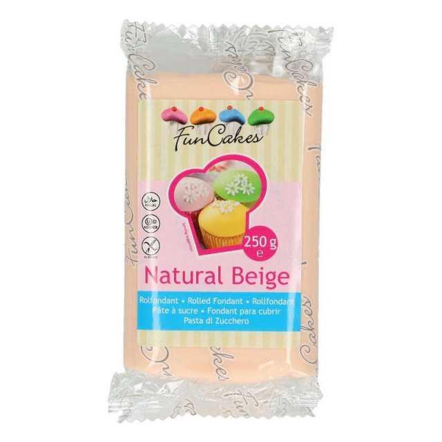 Pâte à sucre FUNCAKES Rose Beige 250g