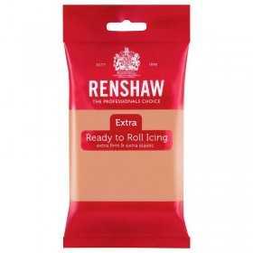 Pate à sucre rose corail -couleur chair- Renshaw 250 gr