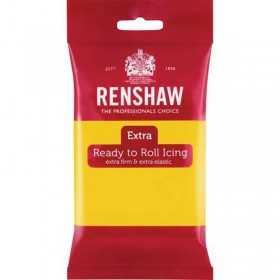 Pâte à sucre Jaune Renshaw 250 gr