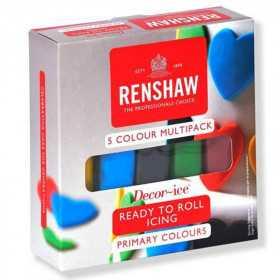 Renshaw - Pack pâte a sucre primaires 5 x 100 gr