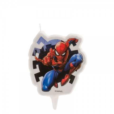 Bougie Spiderman 2D pour un gâteau d'anniversaire homme araignée
