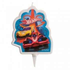 Bougie HOTWHEELS Cars 2D pour gâteau d'anniversaire