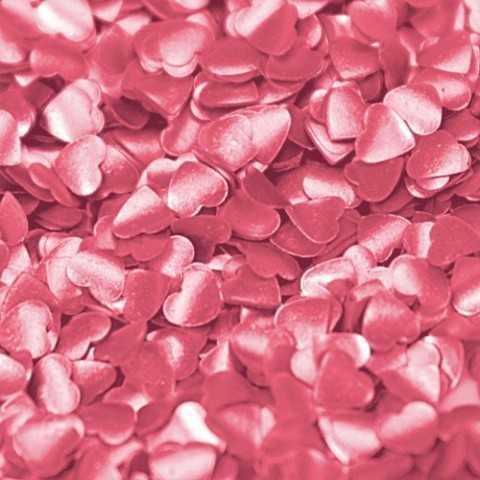 Paillettes cœur rose Rainbow Dust