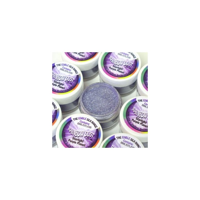 Colorant alimentaire en poudre violet Starlight purple planet Edible Silk