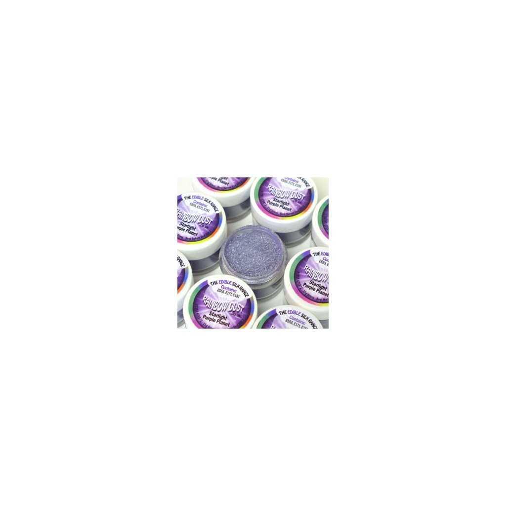 Colorant alimentaire en poudre violet Starlight purple planet Edible Silk