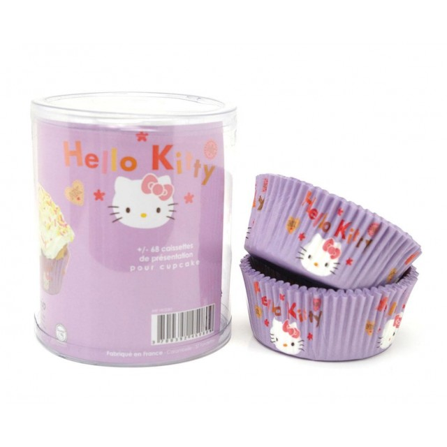 65 Caissettes cupcake Hello Kitty