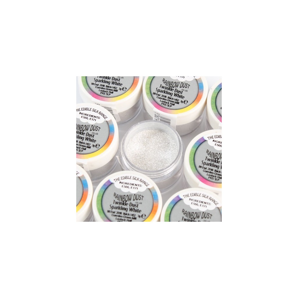 Colorant alimentaire poudre Twinkle Dust sparkling white RD Edible Silk Range