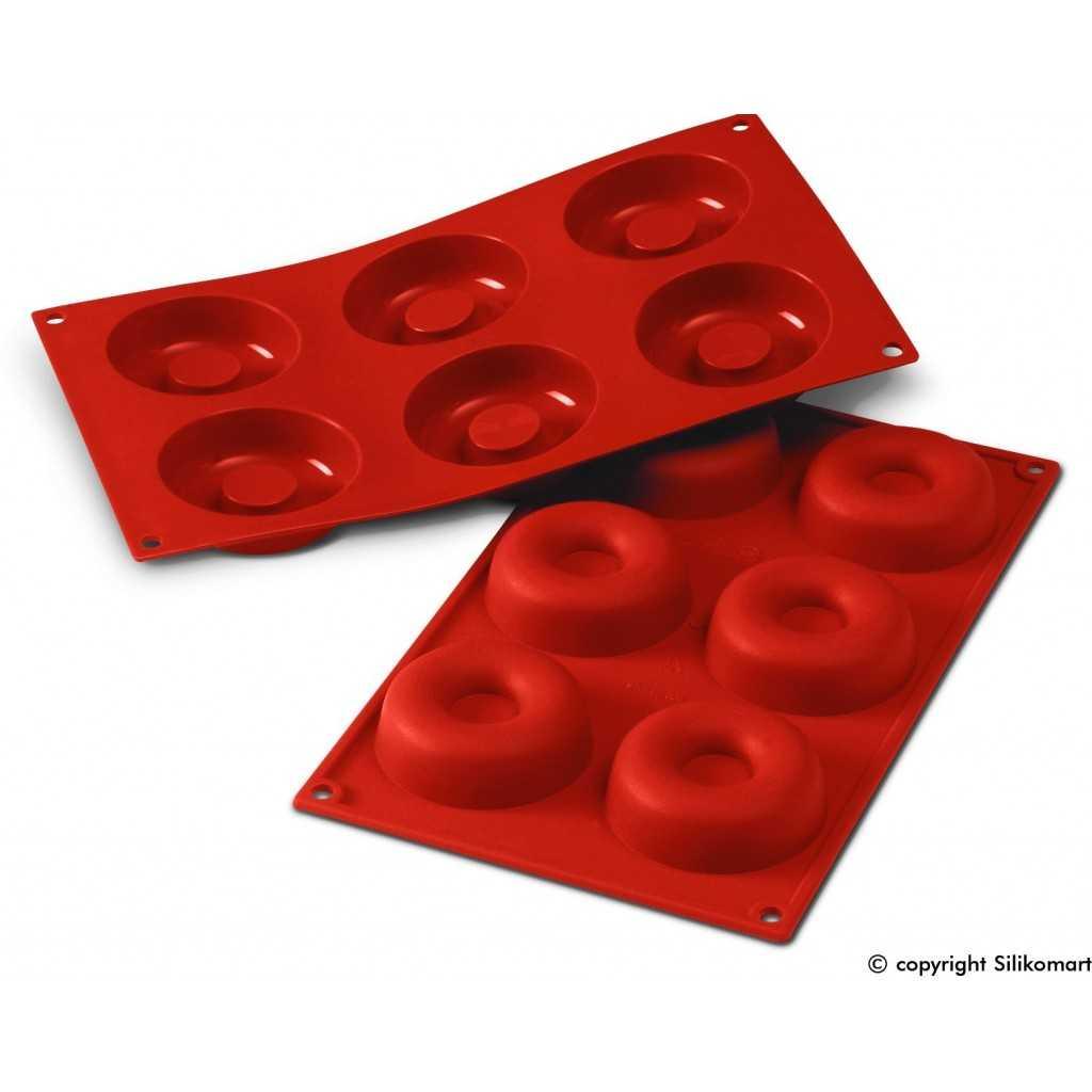 Moule à savarin ou baba au rhum diametre de 7.2 cm en silicone Silikomart