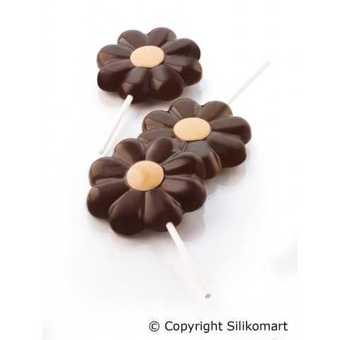 Moule fleur à cake pops ou sucettes en silicone Wonder Cakes
