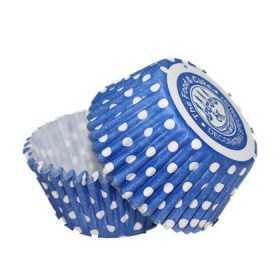 36 Caissettes Cupcake Pois bleu Squires Kitchen