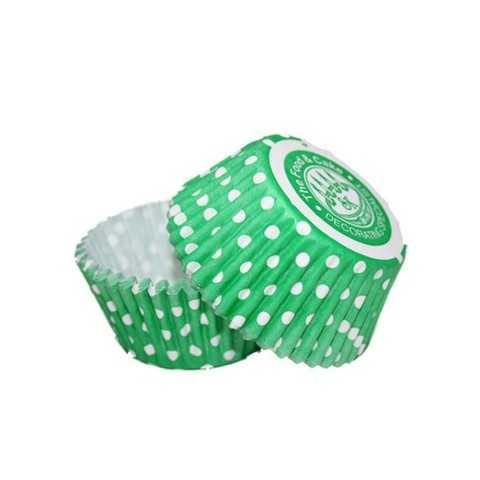 36 Caissettes Cupcake Pois vert Squires Kitchen