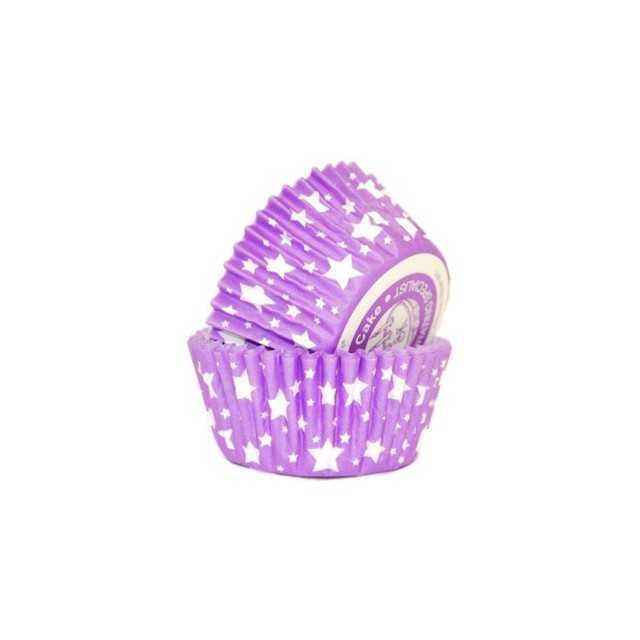 36 Caissettes Cupcake étoiles Violet Squires Kitchen