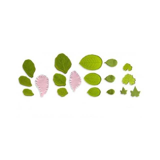 Kit 11 empreintes pour feuilles en pate à sucre JEM