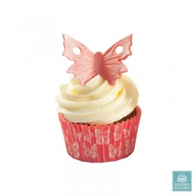 36 Caissettes Cupcake Papillon rouge Squires Kitchen
