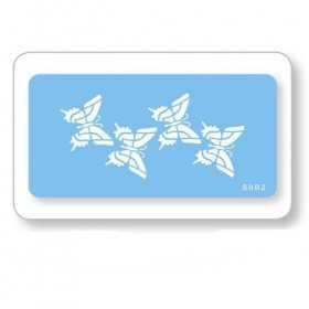 Pochoir 4 papillons 12 x 6 cm JEM