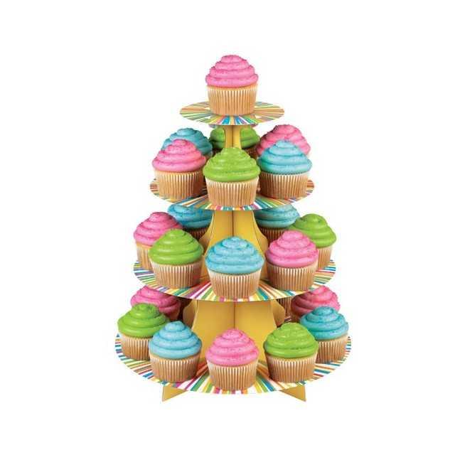 Présentoir à cupcakes multicolore Wilton