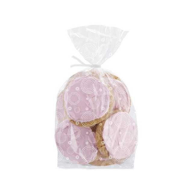 20 Sachets à biscuits ou bonbons élégance motif blanc