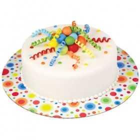 3 présentoirs à pois de couleurs 30 cm pour gateau ou cupcakes