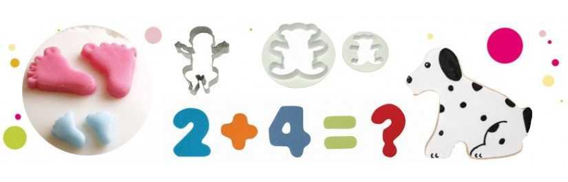 Emporte-piece chiffres et lettres pour personnaliser vos gateaux.